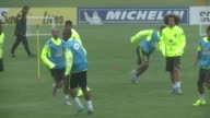Brazils national team trains ahead of the Copa America which will take place in Chile from June 11 to July 4
