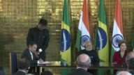 Brazils President Dilma Rousseff said Wednesday a decision by BRICS emerging powers to create a development bank did not mean Brasilia was moving...