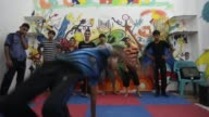 Break dance school in Gaza City