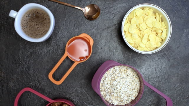 Breakfast with homemade granola
