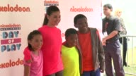 Breanna Yde Amber Montana Benjamin Lil PNut Flores Jr and Curtis Harris at Nickelodeon's 10 Annual Worldwide Day of Play Celebration More Than 50000...