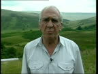 Brecon Beacons EXT Brian Powdrill interview SOT Talks of effects of cull of sheep / Talks of effects of Foot and Mouth on the local economy