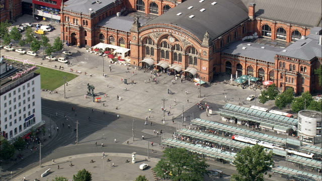 Bremen Train And Tram Station  - Aerial View - Bremen,  Germany