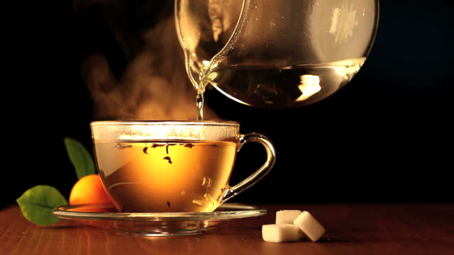 Brewing a cup of tea. HD