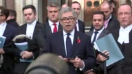 Article 50 ruling Gina Miller at High Court ENGLAND London Royal Courts of Justice EXT Gina Miller arriving at court with others David Greene reading...