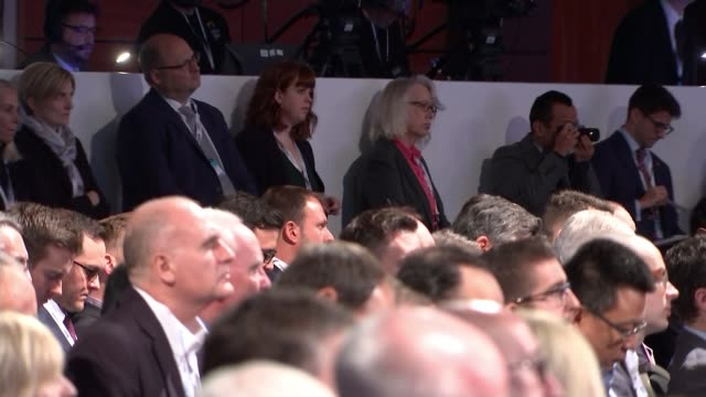 business concerns about 'no deal' Brexit CBI Conference INT CUTAWAY of Theresa May addressing CBI Conference / Theresa May MP speech SOT for our...