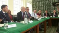 David Davis accuses European Commission of pressuring UK Westminster Shadow cabinet meeting PAN Jeremy Corbyn MP speaking Emily Thornberry MP Corbyn...
