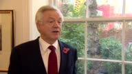 David Davis interview ENGLAND London INT David Davis MP interview SOT re High Court decision to give Parliament a say in triggering Article 50