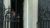 Donald Tusk leaving No10 after meeting PM Theresa May ENGLAND London Downing Street EXT Donald Tusk out of Number 10 and away after meeting with...