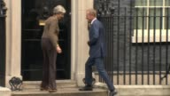 Donald Tusk warns that Brexit talks have not made 'sufficient progress' ENGLAND London Downign Street EXT Donald Tusk greeted with kiss from Theresa...