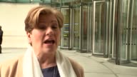 Emily Thornberry and Michael Gove doorsteps ENGLAND London BBC Broadcasting House EXT Emily Thornberry MP interview SOT re Brexit and immigration...