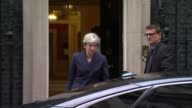 European Union Withdrawal Bill accused of giving ministers too much power ENGLAND London Downing Street EXT Theresa May MP from Number 10 and into...