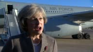 Theresa May interview and Heathrow departure for India business trip ENGLAND London Heathrow Airport EXT Theresa May MP interview SOT Theresa May...