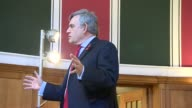 Gordon Brown speech and interview ENGLAND London Westminster Central Hall INT Gordon Brown speech SOT re Brexit federal solution to Britain...
