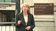 Gove says cabinet united in support of transitional arrangement EXT Sign on building 'Bank of America Merrill Lynch' Reporter to camera SOT Reporter...