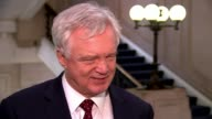 Government sets out plans for future customs system with EU London INT David Davis MP interview SOT