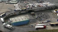 Government sets out plans for future customs system with EU R290317025 / ENGLAND Kent Dover EXT High angle view of the port of Dover Various of...