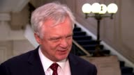 Government sets out plans for future customs system with EU ENGLAND London INT David Davis MP interview SOT