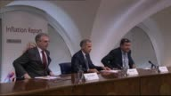 Governor of the Bank of England Mark Carney warns of sluggish UK economy Mark Carney taking seat for press briefing Mark Carney press conference SOT...
