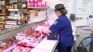 Governor of the Bank of England Mark Carney warns of sluggish UK economy ENGLAND Berkshire Crowthorne INT Various shots of Catherine Dopson preparing...