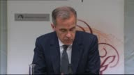Governor of the Bank of England Mark Carney warns of sluggish UK economy Bank of England INT Mark Carney quarterly Inflation Report press conference...