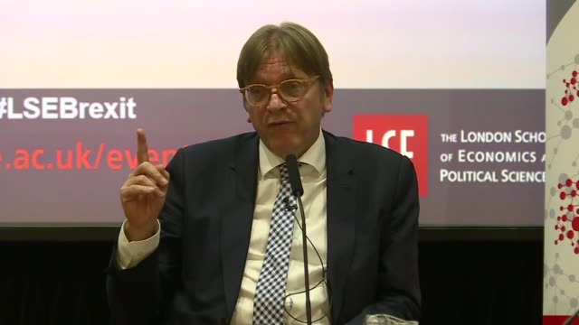 Guy Verhofstadt speech Guy Verhofstadt QA SOT with Professor Kevin Featherstone re rights of EU citizens / divorce bill / transition period