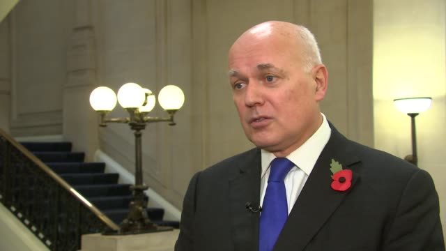Ian Duncan Smith interview ENGLAND London Westminster INT Iain Duncan Smith MP interview SOT re resignation of Stephen Phillips invoking Article 50