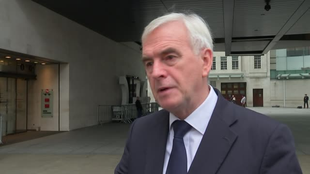 May and Davis to travel to Brussels for talks with Juncker and Barnier ENGLAND London EXT John McDonnell MP interview SOT