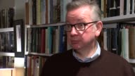 Michael Gove interview ENGLAND London INT Michael Gove MP interview SOT