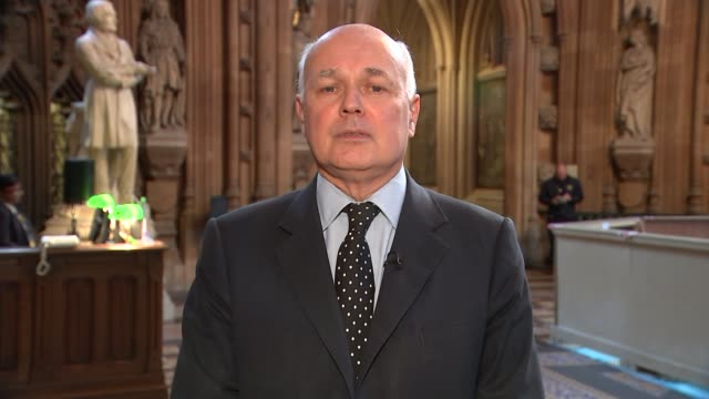 negotiations at 'disturbing deadlock' over UK divorce bill ENGLAND London GIR INT Iain Duncan Smith MP 2 WAY interview from Commons Lobby SOT