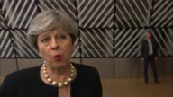 Theresa May outlines plans on status of EU nationals living in UK BELGIUM Brussels INT Theresa May MP interview SOT It's also about how we will build...