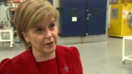 Nicola Sturgeon visit to factory in North of England Nicola Sturgeon MSP interview SOT re manufacturing Brexit and the Single Market Article 50 case