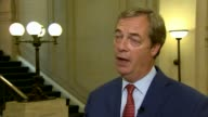 Reaction to Theresa May speech in Westminster Nigel Farage MEP setup shot and interview SOT this is not what we voted for Berkshire EXT Close shot...