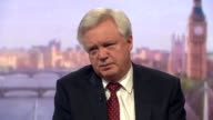 Brexit Secretary David Davis saying Brexit negotiations will be tough but that 'it is in everybody's best interest that we get a good outcome'