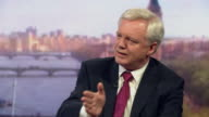 Brexit Secretary David Davis saying the government's priority is for every EU citizen living in Britain to have their current position 'locked in...