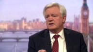 Brexit Secretary David Davis saying 'what we can't have is either house of parliament reversing the decision of the British people'