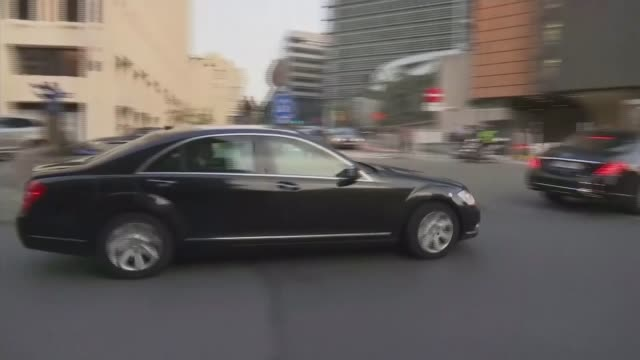 Theresa May and JeanClaude Juncker talks EXT Car carrying Prime Minister Theresa May arriving at European Commission Reporter to camera