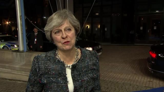 Theresa May attends EU Summit in Sweden Gothenburg Theresa May MP interview SOT we've agreed that good progress has been made more does need to be...