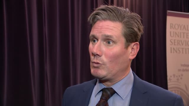 Theresa May attends EU Summit in Sweden Royal United Services Institute RUSI INT Sir Keir Starmer MP interview SOT We would reset the negotiations We...