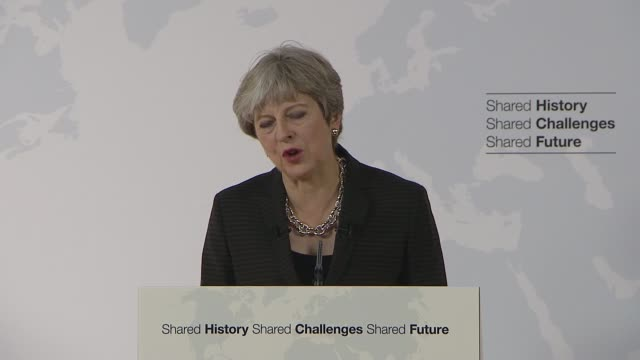 Theresa May Florence speech Theresa May MP speech SOT But in this context I am conscious that our departure causes another type of uncertainty for...