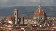 Theresa May holds cabinet meeting ahead of speech ITALY Florence GVs City of Florence seen from above GVs Crowds along in city Tourist shop as crowds...
