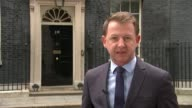 Tony Blair calls for tough new curbs on immigration Downing Street EXT Reporter to camera
