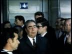 Brezhnev visits Lenin's street in Paris visit of the Eiffel Tower Notre Dame Le Louvre
