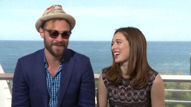 INTERVIEW Brian Geraghty and Marina Squerciati at 55th Monte Carlo TV Festival Day 1 on June 15 2015 in MonteCarlo Monaco