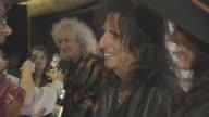 Brian May Alice Cooper at Classic Rock and Roll of Honour at The Roundhouse on November 11 2015 in London England