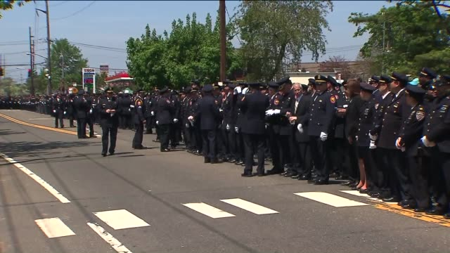 Brian Moore a 25yearold New York City officer posthumously promoted to detective was laid to rest Friday days after he died from injuries he suffered...