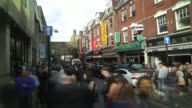 Brick Lane East End Time Lapse Sunday Crowds on October 01 2012 in London England