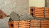 bricklayer construction brick wall