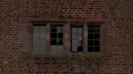 Bricks frame a window in the King Edward VI Aston School in Birmingham, England. Available in HD.
