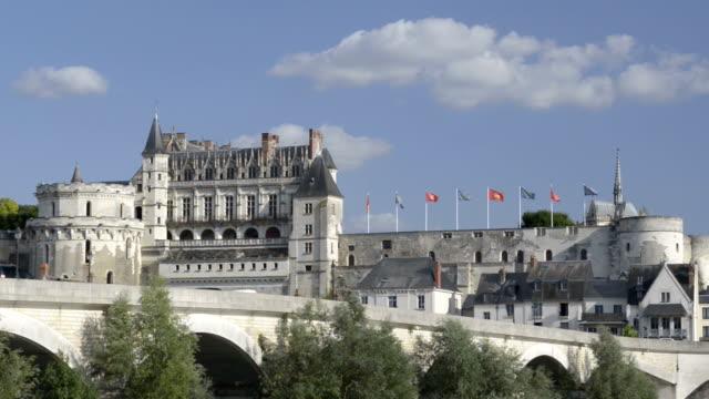 Bridge and Castle of Amboise along the Loire river